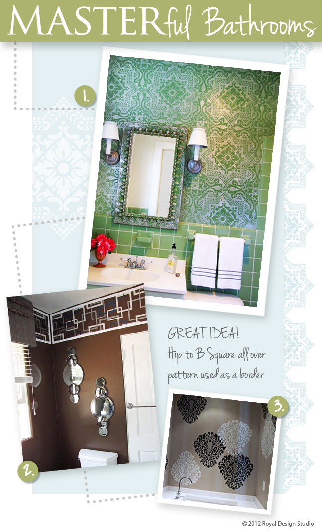 wall-stencils-painting-bathrooms-stenciling-idea