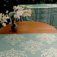 Dining in Style with Furniture Stenciling