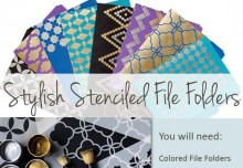 How to use Moroccan Stencils for Stylishly Stenciled File Folders