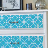 Easy Stenciled Dresser Makeover