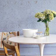 Country Living Stenciled Wall Idea