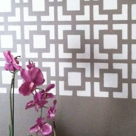 Dreamy Stenciled Wall Panels