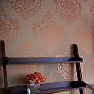 Stenciled Wall is very Chi Chi!