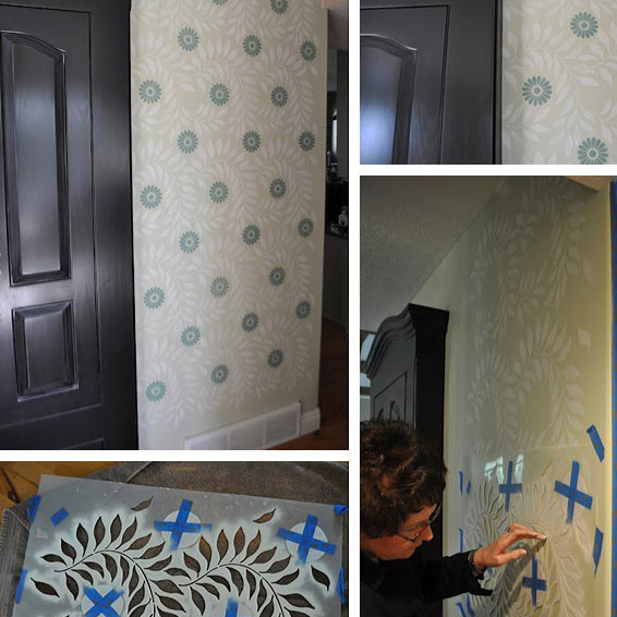Airbrush Wall Stenciling With A Roar Paint Pattern