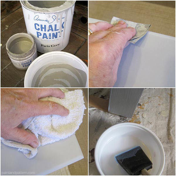 Mix and apply Chalk Paint® to painted tabletop. How to project via Paint and Pattern
