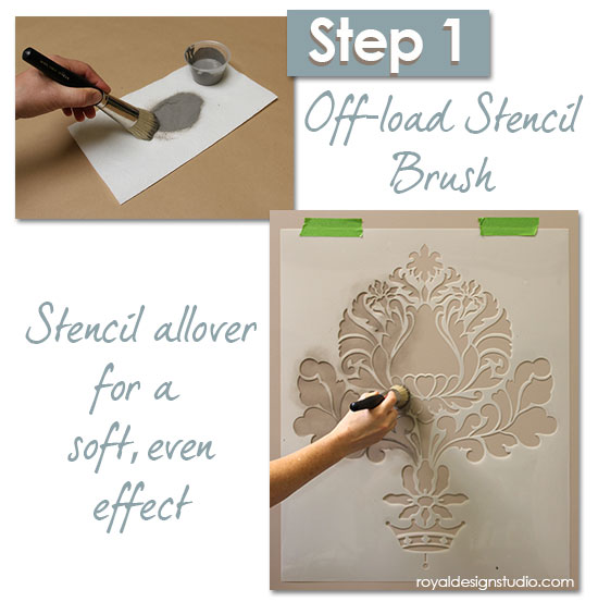 Damask-stencil-sponge-finish-1