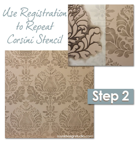 Damask-stencil-sponge-finish-2