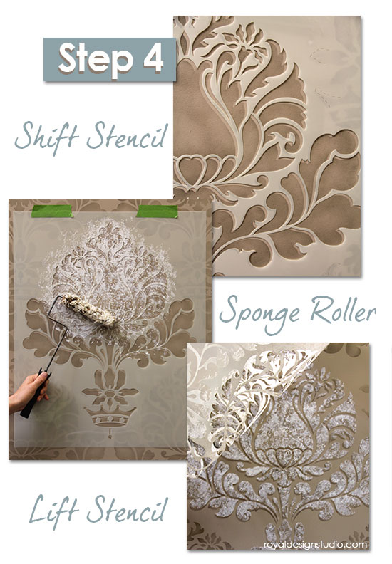 Damask-stencil-sponge-finish-4