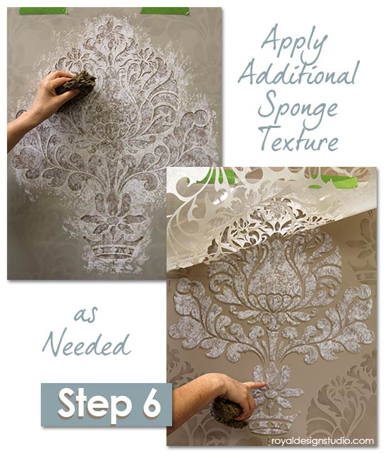 Damask-stencil-sponge-finish-6