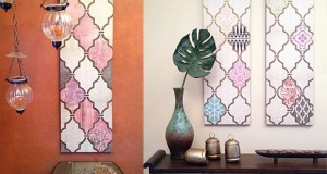 DIY Decoupage Wall Art with a Flair for the Exotic