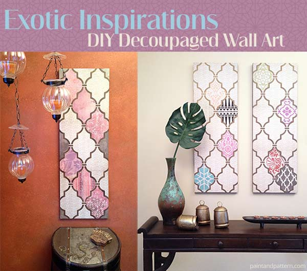 How create DIY decoupage wall art