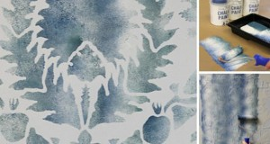 Stencil How-to: Faded Silk Suzani Fabric Finish