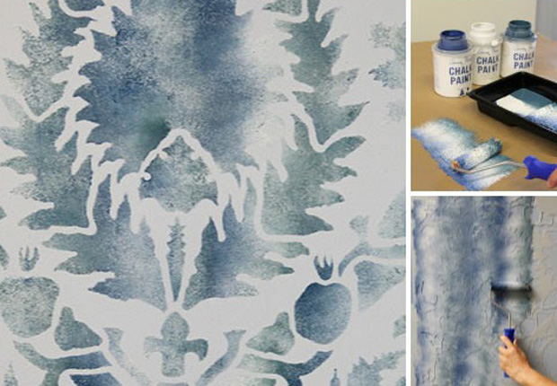 Stencil How To Faded Silk Suzani Fabric Finish Paint