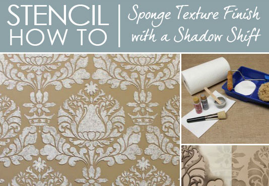 Stencil How To Easy Sponge Roller Texture And Stencil