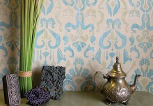 Stencil How-to: Ikat Fabric Effect with Chalk Paint®