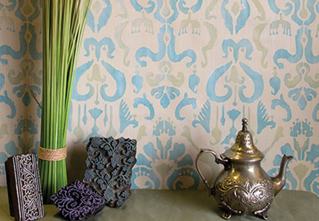 Stencil How To Ikat Fabric Effect With Chalk Paint