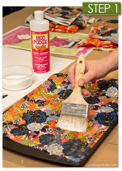 How to Use Stencils with Mod Podge, Fabric, and Embellishments. via Paint + Pattern