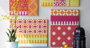 Stencil How-to: Colorful Moroccan Canvas Art