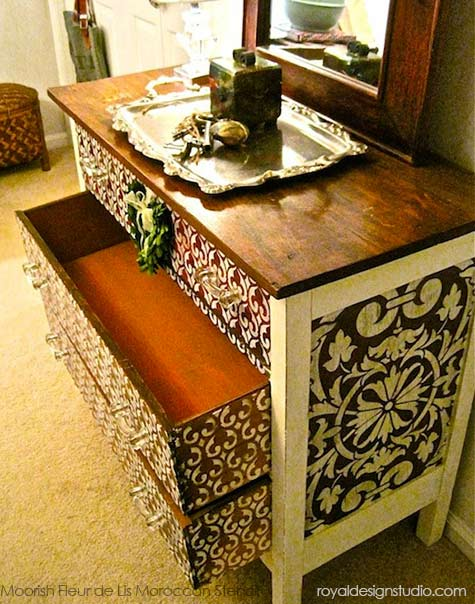 Transform A Chest With Chalk Paint amp Furniture Stencils
