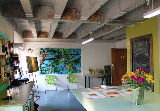 Ali Kay artist studio Positive Space