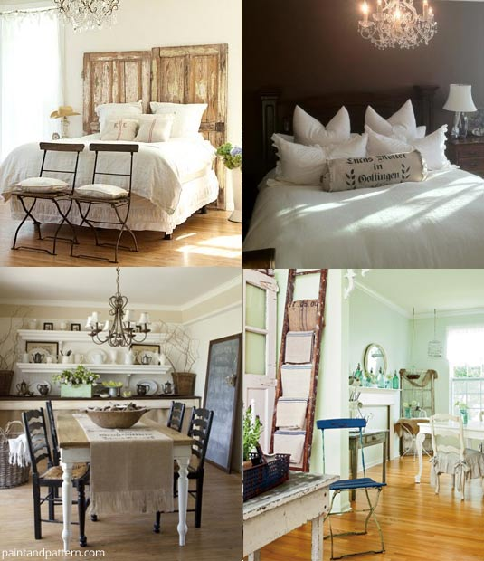 Romantic Prairie Style Bedrooms and Kitchens