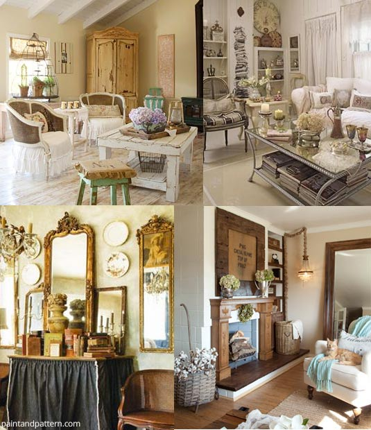 Romantic Prairie Style Living Rooms