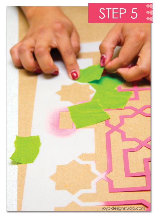 how-to Colorful Moroccan canvas art via Paint + Pattern