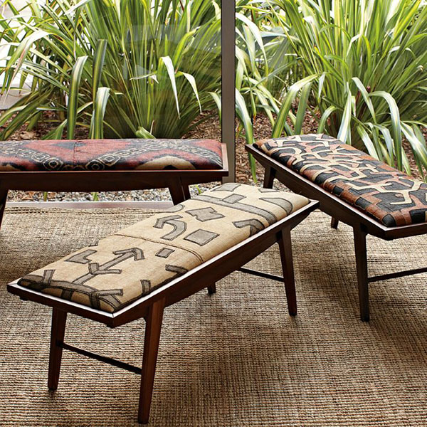African Tribal Pattern Inspired Fabrics and Furniture
