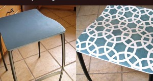 Plain Bar Stools Go Glam With Stencil Cremes + Chalk Paint®!