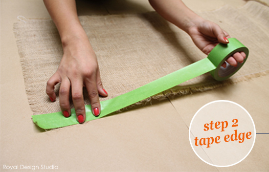 Stenciling Step 2 Taping
