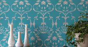 Stencil How-to: Stamping the Splendor Damask