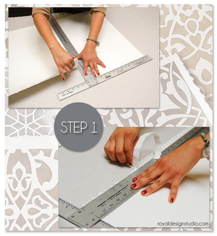How to stencil Moroccan wall art
