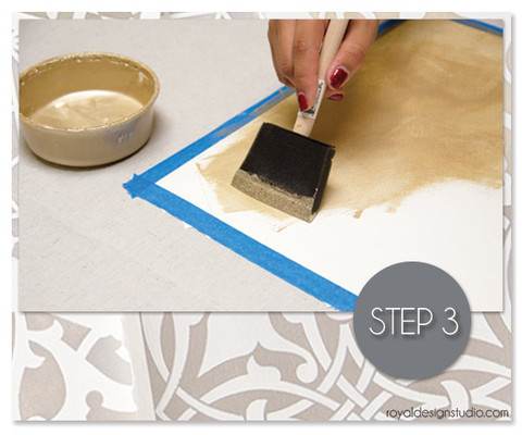 painting with metallic paints on watercolor paper