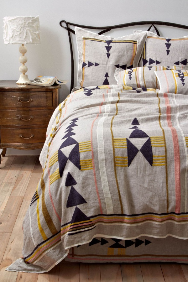 Tribal Patterns on  Bedding from Anthropologie