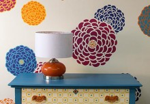 Stencil How-to: Bloomers Flower Stencils