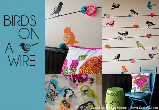 stenciled-lace-birds-on-wire