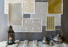 Stencil How-to: Metallic Moroccan Stencils