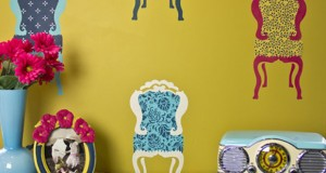 Stencil How-to: Patterned Parlor Chairs