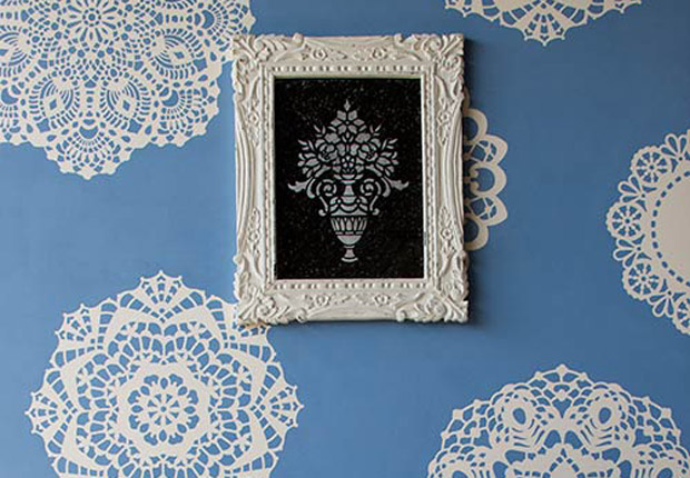 Stencil How To Lovely Lace Doily Wall Paint Pattern
