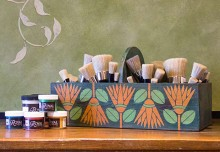 How to: Use Chalk Paint® to Stencil a Custom Brush Box