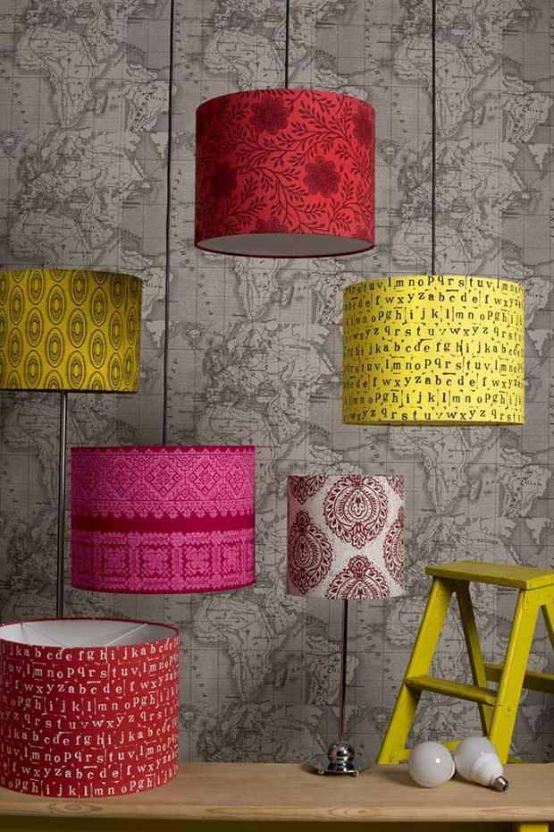 Colorful lampshades designed by the Design Team