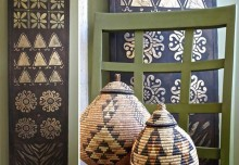 African Kuba Cloth Panel: DIY Custom Art with African Stencil Patterns