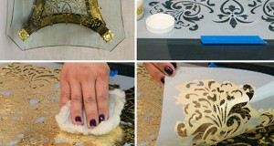 How to use Royal Stencil Size for Reverse Stenciling & Gilding on Glass