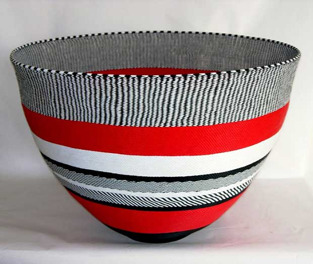 African Telephone Wire Bowl