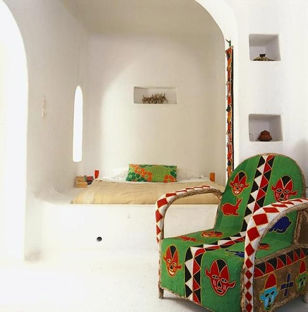 Paint and Pattern Pinterest Board: Beaded Chair African Interior Design