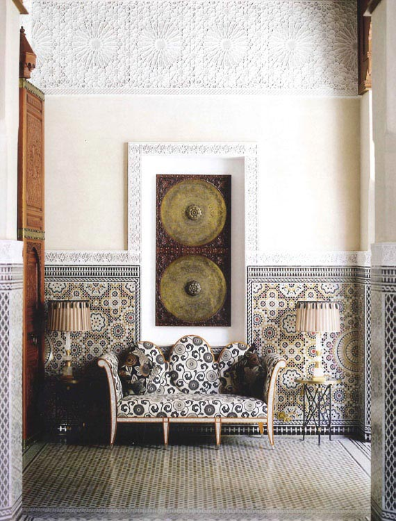 Carved Plaster Patterns. The Royal Mansour in Marrakech on Paint and Pattern