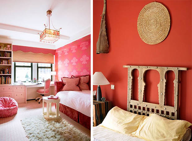 Pink And Red Room Decor In Bedrooms Roundup On Paint Pattern