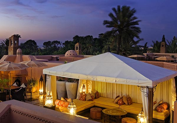 Rooftop terrace. The Royal Mansour in Marrakech on Paint and Pattern