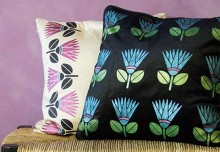 DIY Stenciled Pillows with our African Protea Stencil
