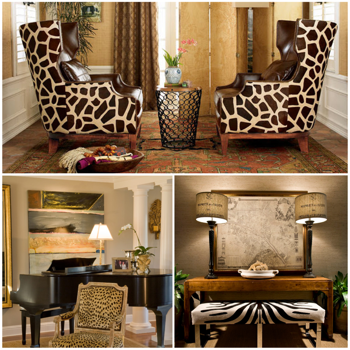 animal print pattern trend out of africa and into your home. Black Bedroom Furniture Sets. Home Design Ideas